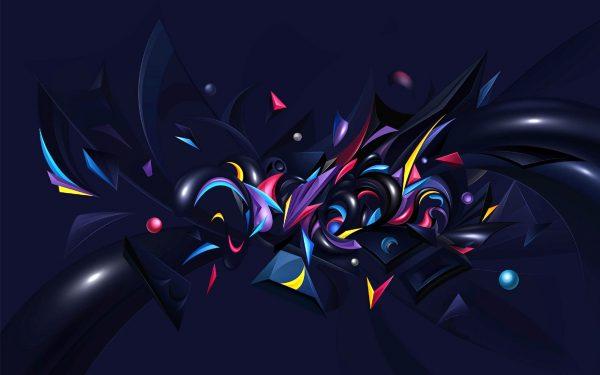 抽象、カオス、ワイドスクリーン、壁紙
